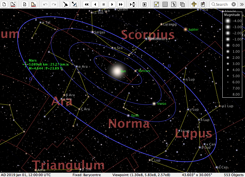 AstroGrav for Mac Screen shot