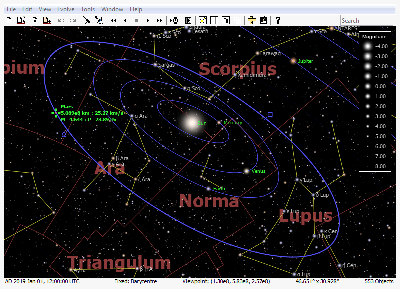 Click to view AstroGrav (Windows) 1.9.2 screenshot